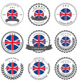 made in uk seals badges vector image