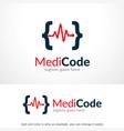 medical code logo template design emblem design vector image vector image