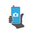 modern smartphone with camera application vector image vector image