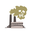 nature pollution factory dirty waste air in the vector image
