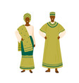 nigerian couple in colorful traditional apparel vector image vector image