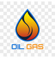 oil and gas logo isolated on transparent vector image