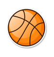 orange basketball ball eps 10 vector image