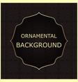 ornamental vintage background vector image