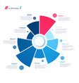 pie chart concept with 9 parts template vector image vector image