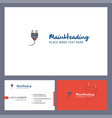 plough logo design with tagline front and back vector image