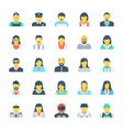 Professions Colored Icons 3 vector image vector image