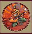 pumpkin gunners mascot logo design vector image