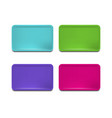 realistic detailed 3d color plastic tray set vector image vector image