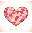Red diamond triangles texture heart vector image