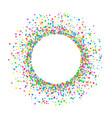 round colored confetti vector image