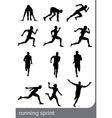 Running sprint man vector image vector image
