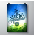 Say yes to new adventures inspiration quote vector image vector image