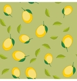 Seamless pattern with cartoon lemons Fruits vector image vector image