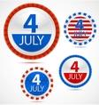 set 4th july labels vector image