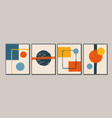 set modern minimal colorful posters cards vector image