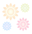 Set of halftone sun shapes vector image vector image