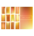 set of soft golden gradients background vector image