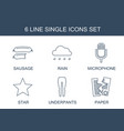 single icons vector image vector image