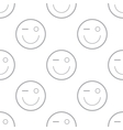 Smiling pattern vector image vector image
