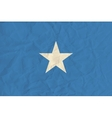 Somalia paper flag vector image vector image