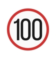 Speed limit 100 vector image vector image