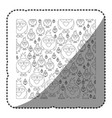 sticker monochrome pattern of caricature bird vector image