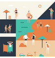 summer holiday - flat design style vector image vector image