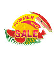 summer sale sticker or banner vector image vector image