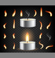 tea light candle set isolated vector image