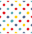 tile pattern with pastel hand drawn dots on white vector image vector image