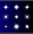 transparent star symbol icon design beautiful of vector image