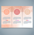 Tri-fold geometrical brochure abstract template vector image vector image