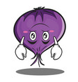 upside down red onion character cartoon vector image vector image