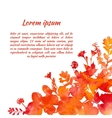 watercolor background frame vector image vector image