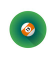 flat color billiard ball vector image