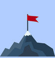 landscape with flag on the mountain vector image