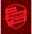 Premium label design over floral background vector image