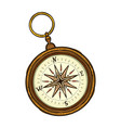 vintage antique retro style compass isolated vector image