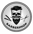 barbershop barber logo template retro vector image