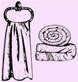 bath towel spa vector image