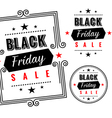 Black Friday sale badges and labels vector image vector image