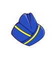 Blue forage cap of stewardess icon cartoon style vector image vector image