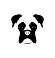 boxer dog muzzle black and white vector image vector image