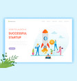 business startup landing page template investment vector image vector image