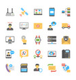 chat and social networking icons vector image vector image