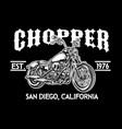 chopper motorcycle logo emblem vector image