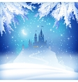Christmas Winter Castle vector image vector image