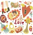 Colorful cartoon romantic love seamless pattern vector image vector image