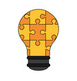 colorful graphic light bulb of pieces puzzle vector image vector image